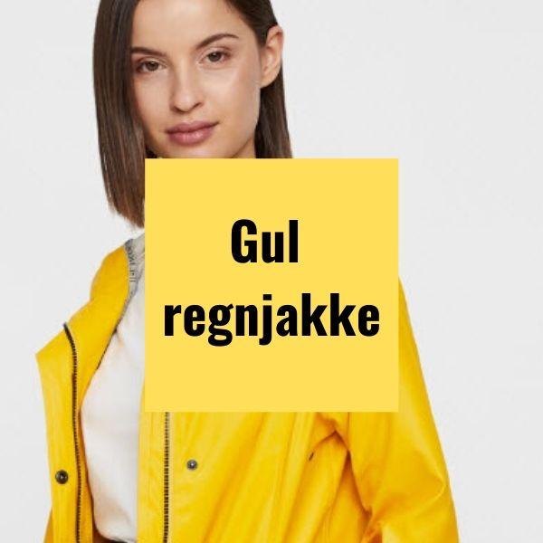 Gul regnjakke fede praktiske gule regnjakker til damer