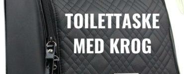 Toilettaske med krog hænges op