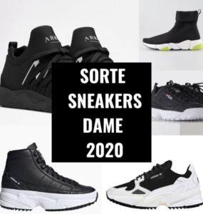 sorte sneakers dame