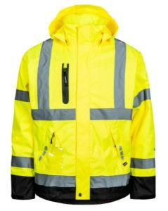 Lyngsøe arbejds regnjakke Hi-Vis saturn gul