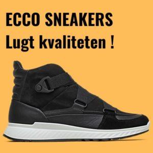 Sorte sneakers fra danske Ecco
