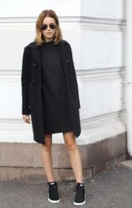 sneakers med kjole sorte farver
