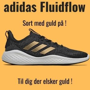 adidas Fluidflow sort sneakers med guld