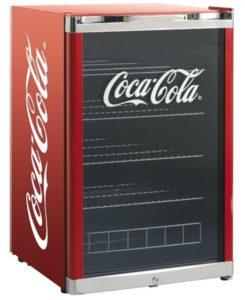 det store mini køleskab med Coca-cola