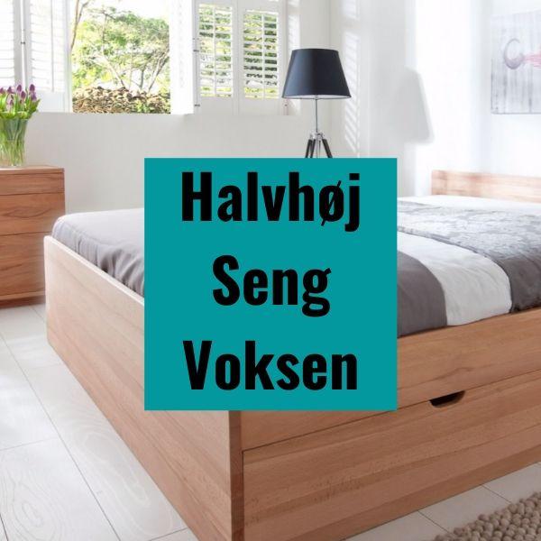 Halvhøj seng voksen - kontinentalsenge og sengerammer