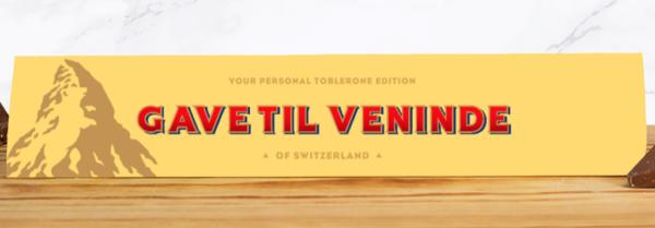 En personlig gave til veninden med chokolade